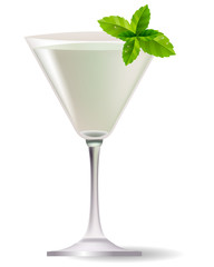 Cocktail with mint leaves