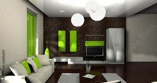 """bild wohnzimmer grün:3d wohnzimmer grün"""" Stockfotos und lizenzfreie Bilder auf Fotolia"""