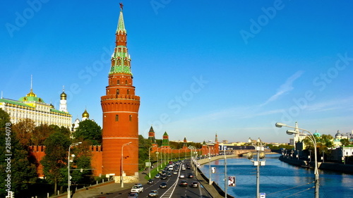 View of the embankment of the Moscow Kremlin