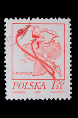Poland - CIRCA 1968: A stamp - flower