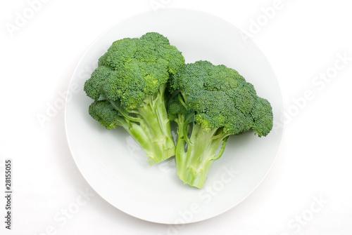 皿の上のブロッコリー