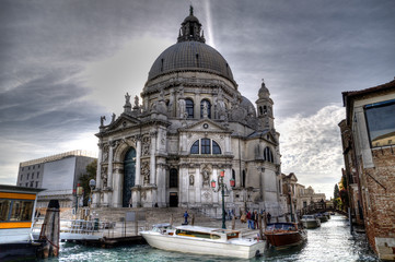The Basilica of St Mary of Health, Venice, Italy.