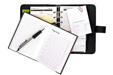 Ring binder organizer with notes and things to do list