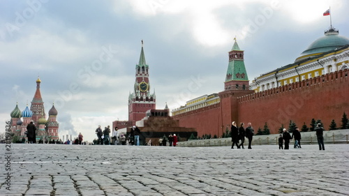 Red Square. Time lapse.