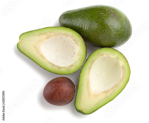 Ripe avocado. Above view
