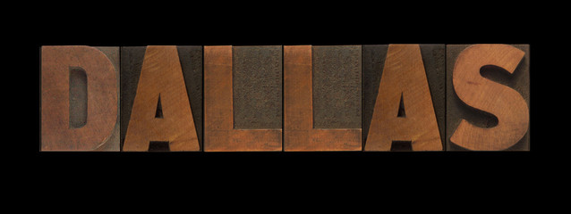 Dallas in old letterpress wood type