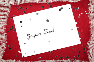 Christmas Card in French