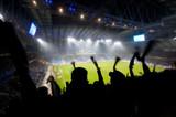 Fototapety Fans celebrating a goal on football / soccer match