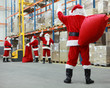 Santa Claus ready for Christmas leaving storehouse - 28161076