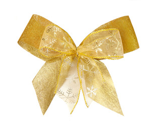 gold christmas bow