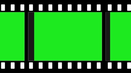 film strip - green screen