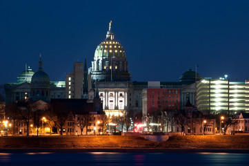 Harrisburg Skyline at Night