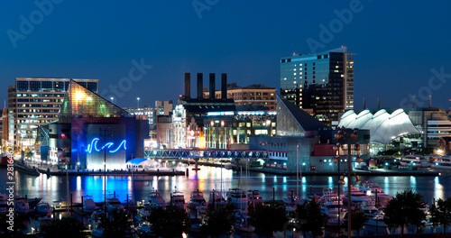 Baltimore Maryland Cityscape at Night