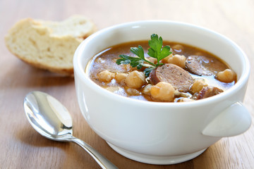 Spicy Sausage Bean Soup