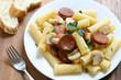 Pasta with Sausages and Mushrooms