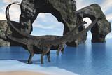 Diplodocus Wading poster