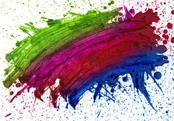 abstaract hand drawn watercolor blot, raster illustration