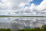 Dramatic Puffy White Clouds Reflected Smooth May River Bluffton