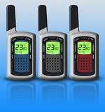 Multicolored walkie-talkies poster