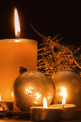 Christmas candle table setting