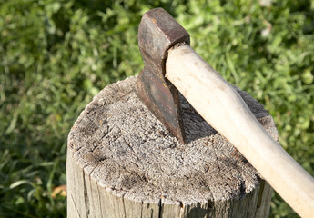 Axe with  pack for cabin