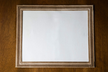 Old paper photo frame