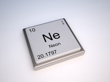 Neon chemical element of the periodic table with symbol Ne poster
