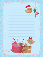 christmas birdies notepad