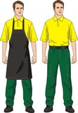 The man in an apron poster