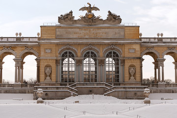 Gloriette Wien im Winter