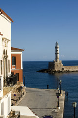Lighthouse in Chania old harbour - Crete