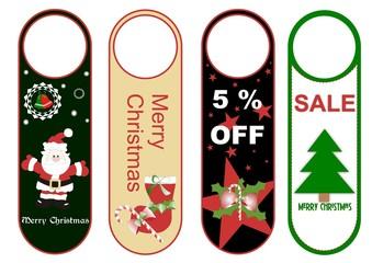 vectores de tarjetas colgantes para fin de año y navidad