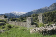 Mystras - View on Mt. Taygetos covered by snow