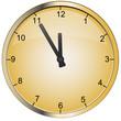 vector gold clock