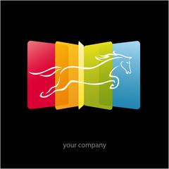 logo entreprise, média, communication