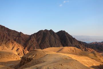 Winter morning in desert Sinai