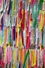 Commemorative ribbons at the DMZ.
