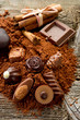 chocolate with ingredients-cioccolato e ingredienti