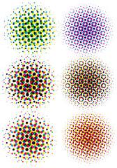 cmyk halftone dots, vector pattern