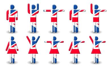 British Male/Female Symbols