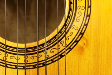Charango, sound hole of stringed acoustic instrument