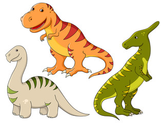 Vector set - dinosaurs