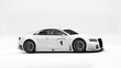 Постер, плакат: Sportcar in white studio 3D