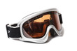 ski snowboard goggles on white background