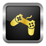 gold icon set - joystick poster
