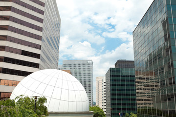 XXXL Downtown Rosslyn, Virginia Office Buildings Blue Sky Dome