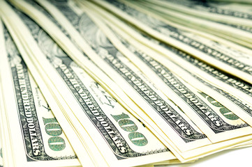 plenty of one hundred dollars banknotes