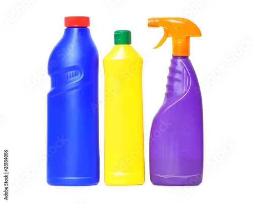 three flacons of washing liquid