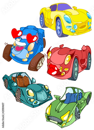 Spoed canvasdoek 2cm dik Cars Cartoon cars