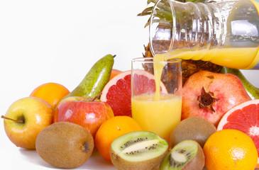 orangensaft,früchte